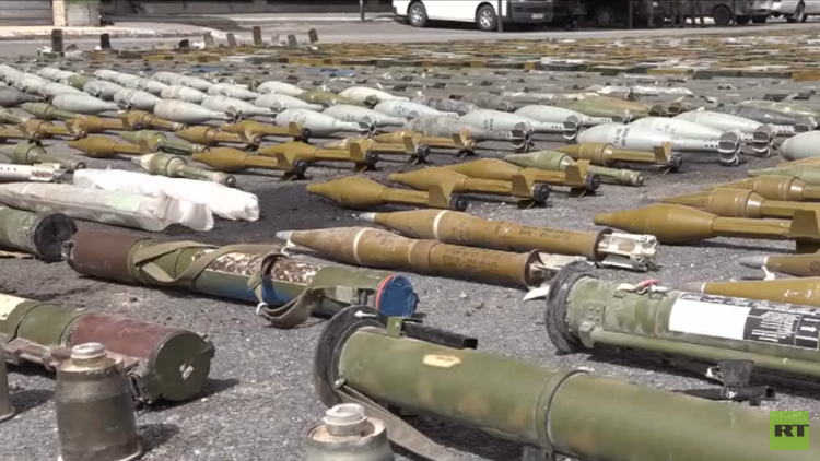 الأمن السوري يعلن إحباط محاولة إدخال أسلحة إلى ريف حمص الشمالي (صور)
