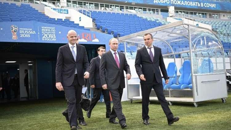 بوتين يعول على أداء قوي لمنتخب روسيا في مونديال 2018
