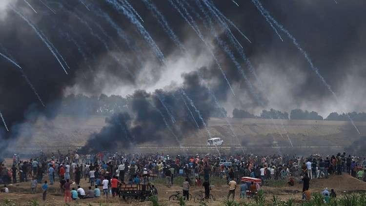 إصابة 1143  فلسطينيا في جمعة