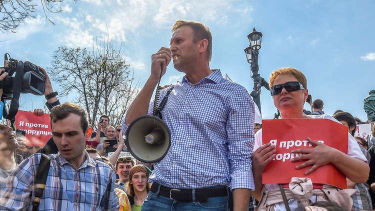 إطلاق سراح المعارض الروسي نافالني بعد اعتقاله في مظاهرة غير مرخصة