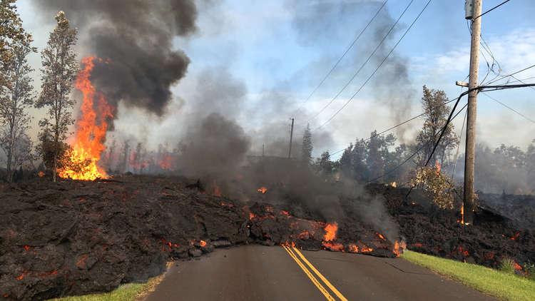 تدمير 30 منزلا على الأقل بسيول الحمم البركانية في هاواي