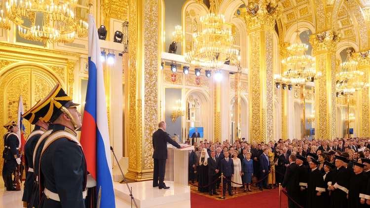 اختتام مراسم تنصيب الرئيس بوتين بإطلاق 30 قذيفة