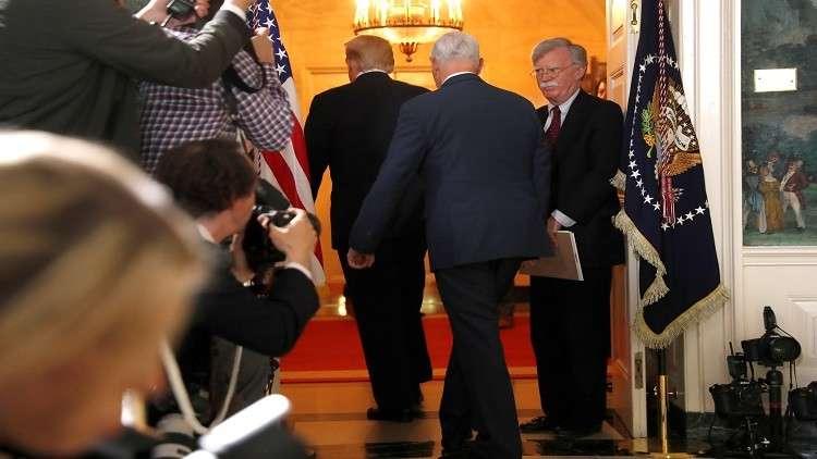 بولتون يأمل بإعادة أوروبا عقوباتها ضد إيران.. وكلينتون تعتبر قرار ترامب خطأ كبيرا