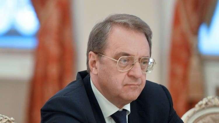 بوغدانوف: مسألة الهجمات الإسرائيلية على سوريا بحثت خلال زيارة نتنياهو