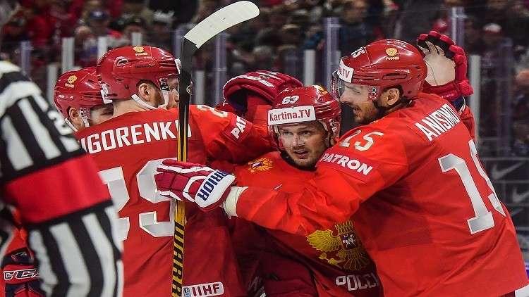 روسيا تهزم سويسرا في بطولة العالم لهوكي الجليد