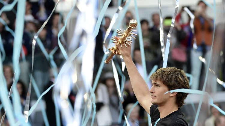 الألماني زفيريف يتوج بطلا لدورة مدريد
