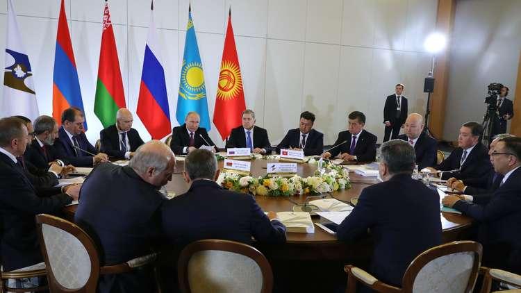 بوتين يدعو الاتحاد الأوراسي لمزيد من التقارب المالي والنقدي