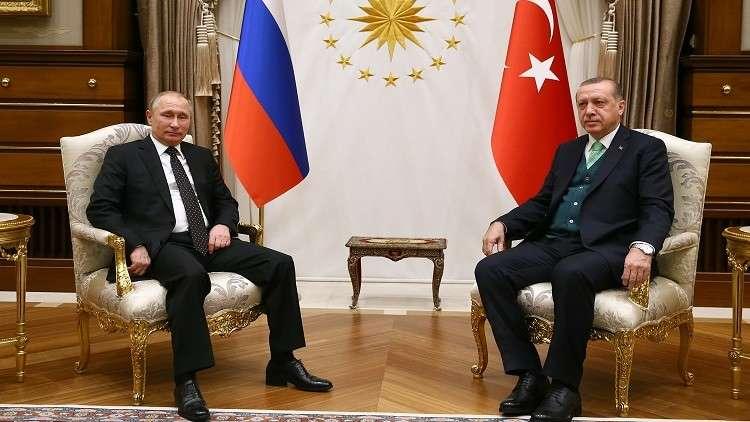 بوتين يبحث مع أردوغان القضية الفلسطينية