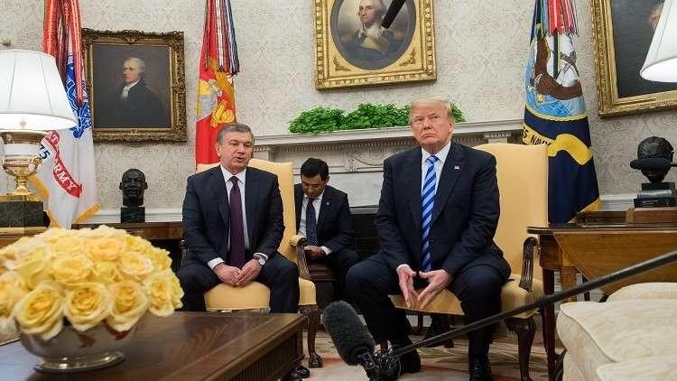 الرئيس الأمريكي دونالد ترامب يستقبل نظيره الأوزبكستاني شوكت ميرضيائيف في البيت الأبيض