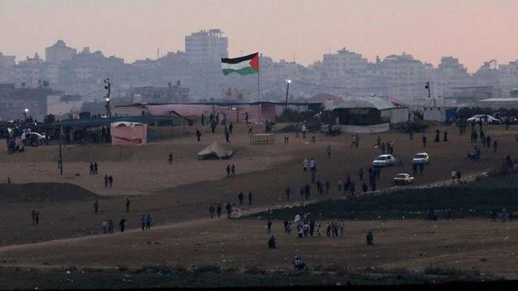 صور ضخمة للسيسي في قطاع غزة