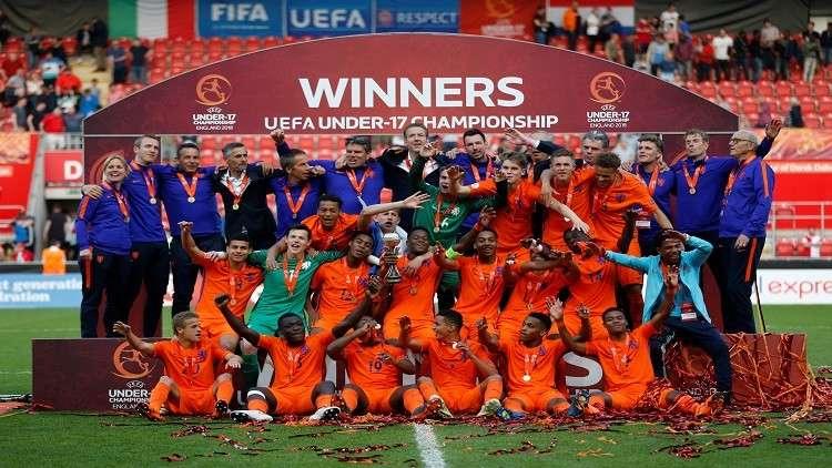 هولندا تتوّج بلقب أمم أوروبا لكرة القدم دون 17 عاما (فيديو)