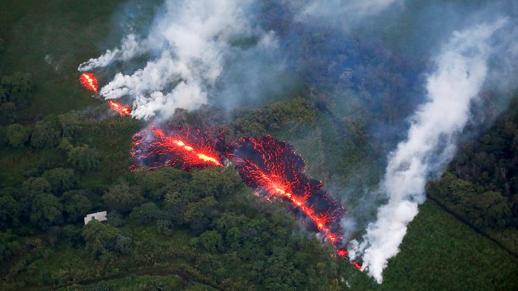 ما أثر التعرض لحمم هاواي البركانية؟