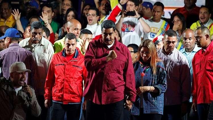 مادورو يشكر بوتين على اعترافه بنتيجة الانتخابات في فنزويلا