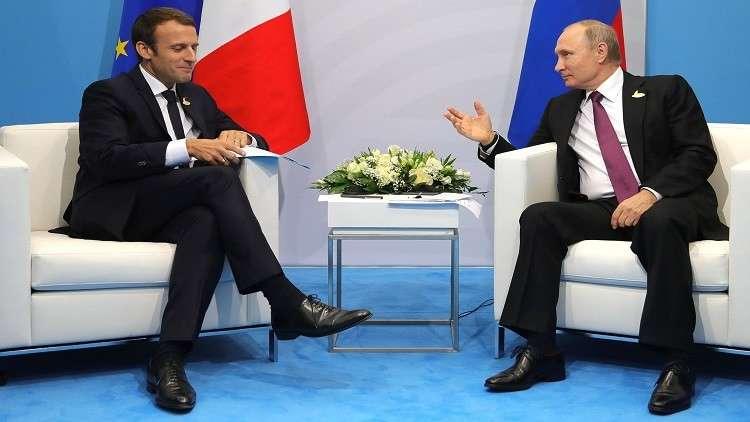 تحذير ماكرون قبل لقاء القمة مع بوتين