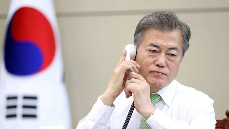 رئيس كوريا الجنوبية يعقد اجتماعا طارئا مع كبار مساعديه بعد إلغاء ترامب قمة مع كيم جونغ أون