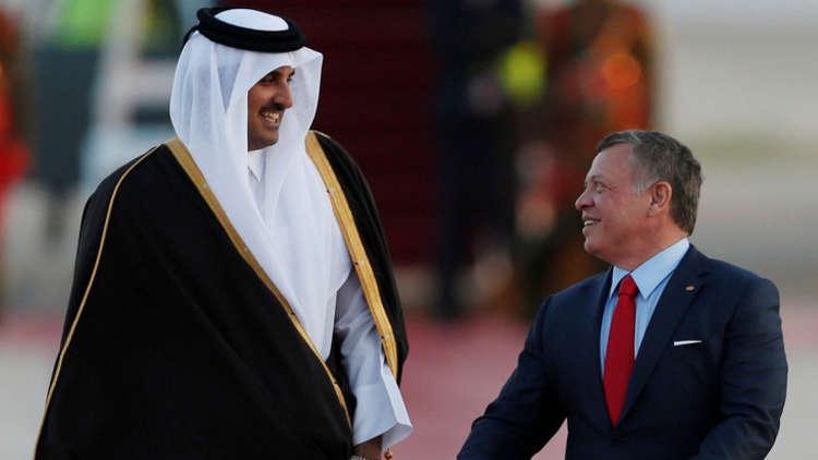 أمير قطر يهنئ العاهل الأردني