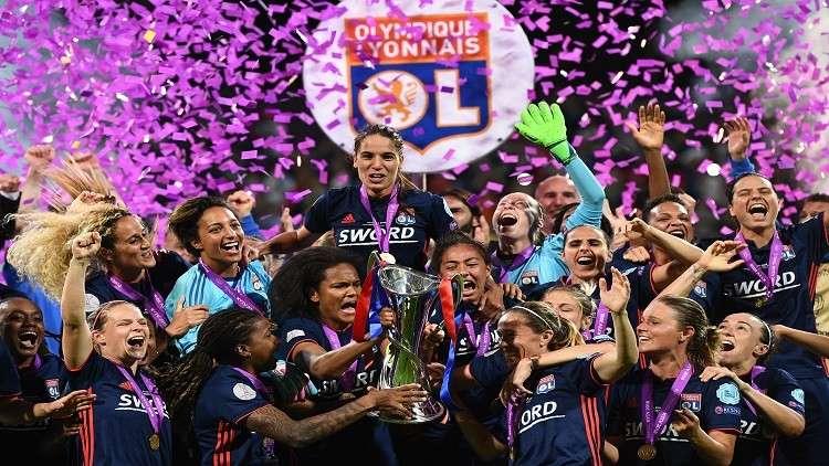 ليون الفرنسي يتوّج بلقب دوري أبطال أوروبا للسيدات