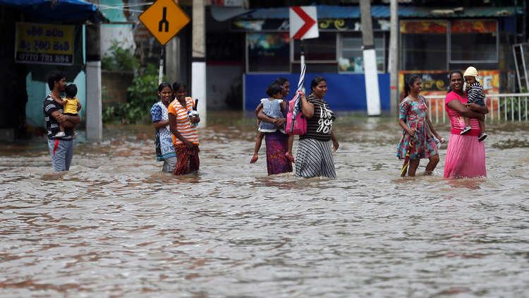 19 قتيلا وأكثر من 128 ألف متضرر من الأمطار في سريلانكا