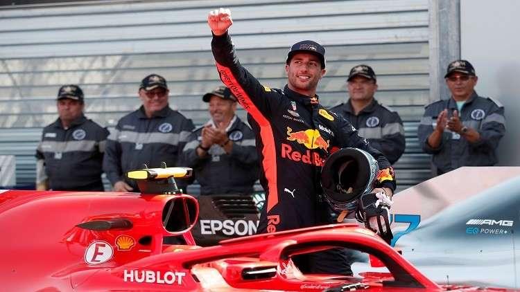ريكاردو أول المنطلقين في  جائزة موناكو الكبرى للفورمولا 1