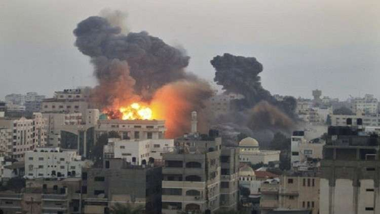 انفجارات في غزة جراء قصف الطيران الإسرائيلي للقطاع