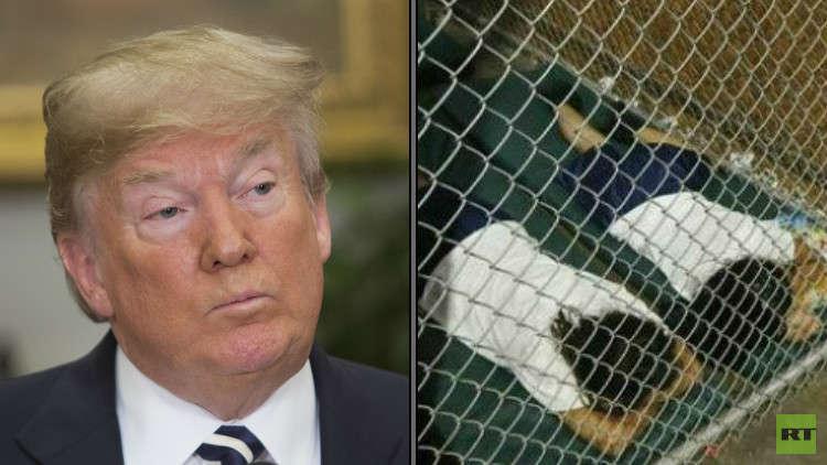 ترامب ينتقد الديمقراطيين لاستخدامهم صور أطفال مهاجرين ضده