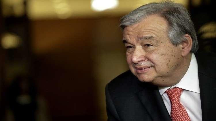 غوتيريش يصل مالي لتفقد البعثة الدولية