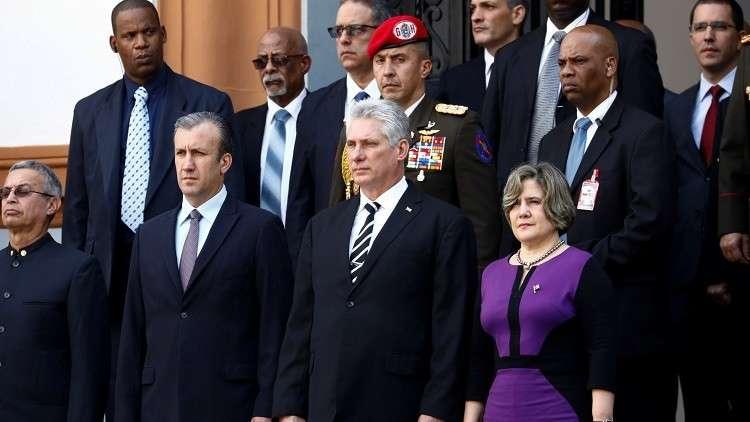 الرئيس الكوبي ميجيل دياز كانيل في فنزويلا