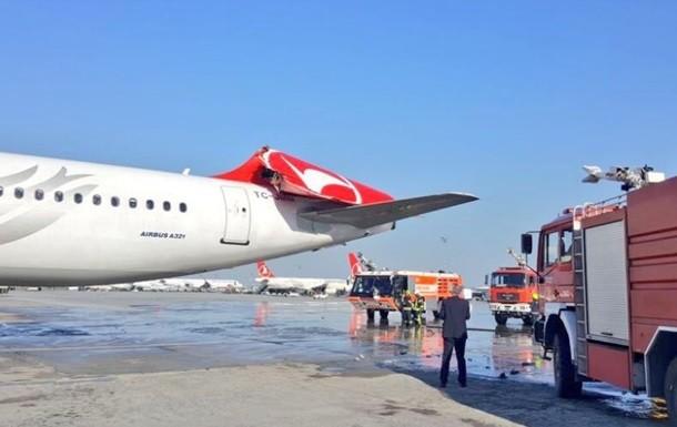 بالفيديو.. لحظة تصادم طائرتين في مطار أتاتورك باسطنبول