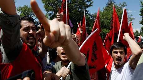 متظاهرون في عيد العمال بتركيا