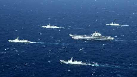 مناورات السفن الصينية في بحر الصين الجنوبي (صورة من الأرشيف)