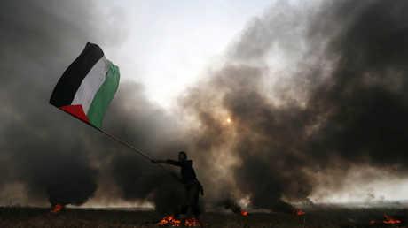مظاهرة فلسطينية في غزة