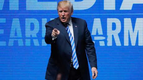 الرئيس الامريكي، دونالد ترامب، يلقي كلمة خلال المؤتمر السنوي الـ147 للجمعية القومية الأمريكية للأسلحة النارية