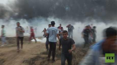 مئات المصابين في مواجهات بقطاع غزة