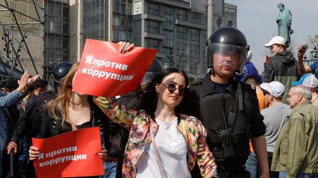 الشرطة تعتقل مشاركين في المظاهرة غير المرخص بها في موسكو