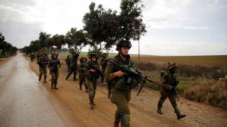 عناصر من الجيش الإسرائيلي قرب الحدود مع قطاع غزة