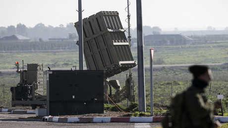 """منظومة إسرائيلية صاروخية من طراز """"القبة الديدية"""" في الجولان المحتل (أرشيف)"""