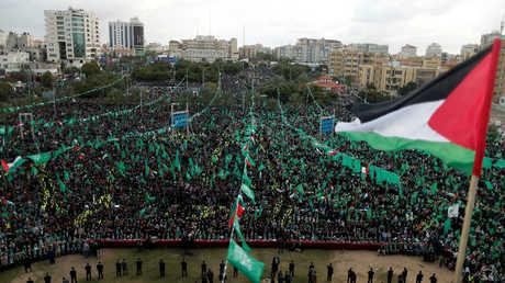 """مظاهرة لمؤيدي """"حماس"""" في غزة"""