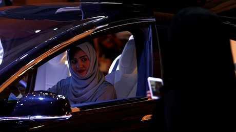 مرأة سعودية تقود سيارة - أرشيف -