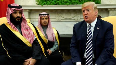 ولي العهد السعودي والرئيس الامريكي دونالد ترامب