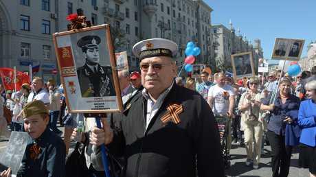 """مسيرة """"الفوج الخالد"""" في موسكو، 9 مايو 2018"""
