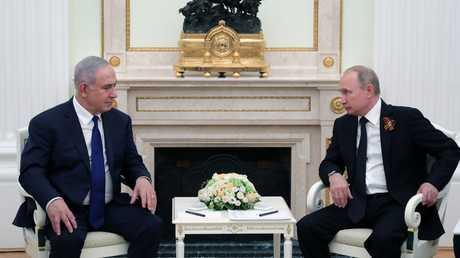 الرئيس الروسي فلاديمير بوتين يستقبل في الكرملين رئيس الوزراء الغسرائيلي بنيامين نتنياهو
