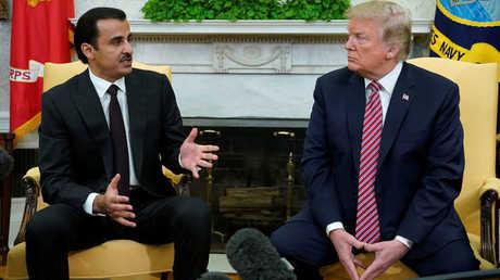 الرئيس الأمريكي، دونالد ترامب، يستقبل في البيت الأبيض أمير قطر، الشيخ تميم بن حمد آل ثاني.