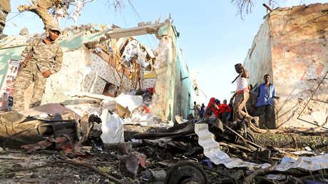 صورة أرشيفية لتفجير في الصومال