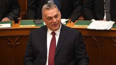 رئيس وزراء هنغاريا فيكتور أوربان بعد إعادة انتخابه