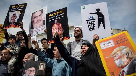 مسيرات في  إيران ضد السياسات الأمريكية