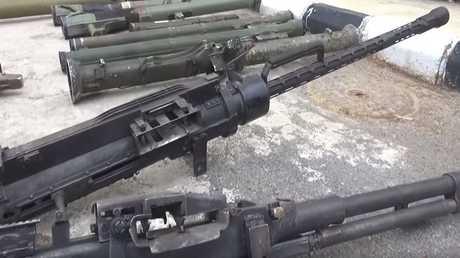 أسلحة سلمها المسلحون قبل خروجهم من مناطق جنوب دمشق