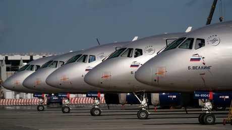 """طائرات """"سوخوي سوبرجت 100"""" (صورة من الأرشيف)"""