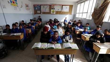 تلاميذ سوريون في إحدى مدارس دمشق
