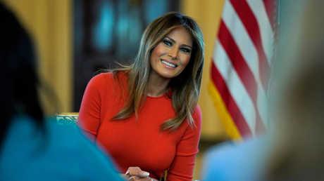 ميلانيا، زوجة الرئيس الأمريكي دونالد ترامب