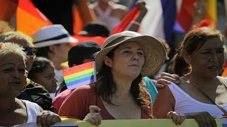 مارييلا كاسترو  في مسيرة للمثليين في هافانا